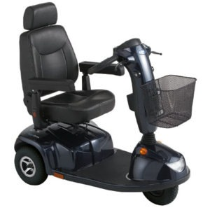 Invacare® Pegasus 3 Wheel Scooter Blue with 8A Charge