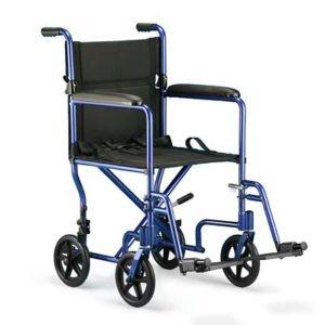 Invacare Transport Wheelchair 17″ x 16″ – Blue