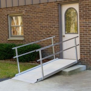 Silver Spring Aluminum Wheelchair Access Ramps with Handrails